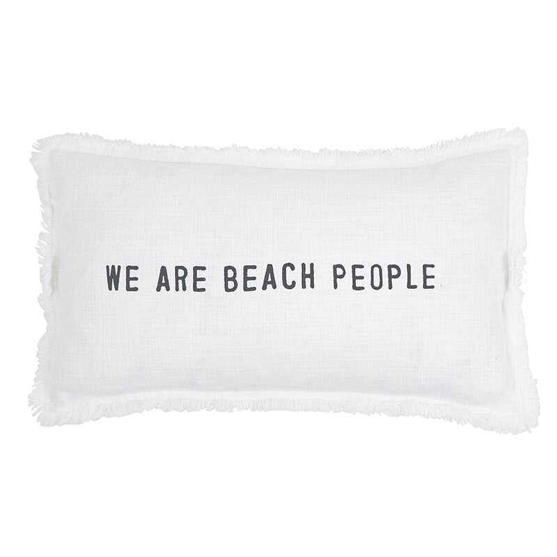We Are Beach People Lumbar Pillow