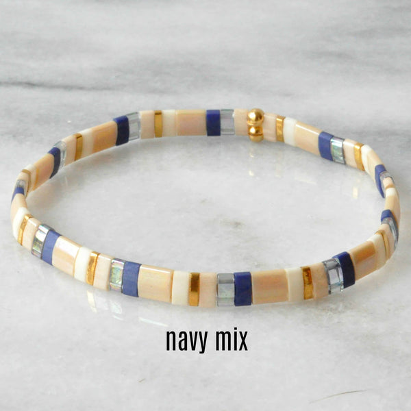Libby & Smee Stackable Stretch Tile Bead Bracelets available in additional colors