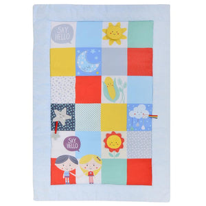 'Say Hello' Patchwork Activity Mat