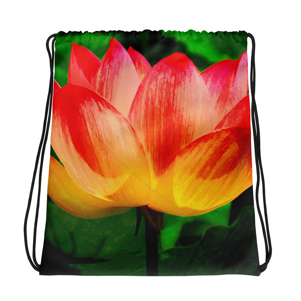 Tequile Sunrise tulip Drawstring bag