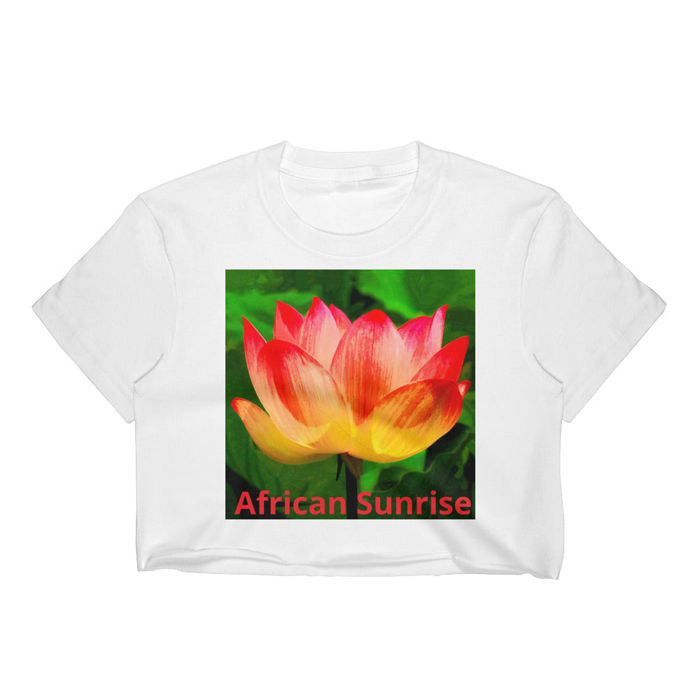 Sunrise flower Women's Crop Top