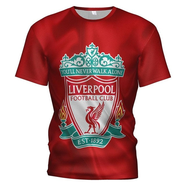 2019 New Liverpool Fc Soccer Jerseys Football 3d T Shirt Men/kids Tracksuit Liverpool Football Kit Training T-shirt Sweatshirt