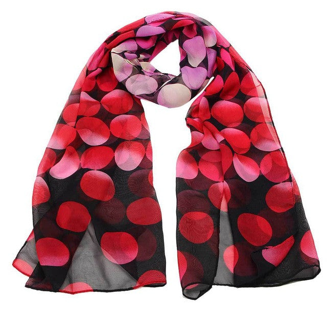 JECKSION Scarf Women Women Lady Shawl Chiffon Dot Rectangle Scarf Scarves Sun Protection Gauze Kerchief for #LYW