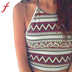 Sexy Women Crop Tops Summer Beachwear Bikini Bra Strap Tank Vest Tops High-Neck Halter Camis Camisole #YYE