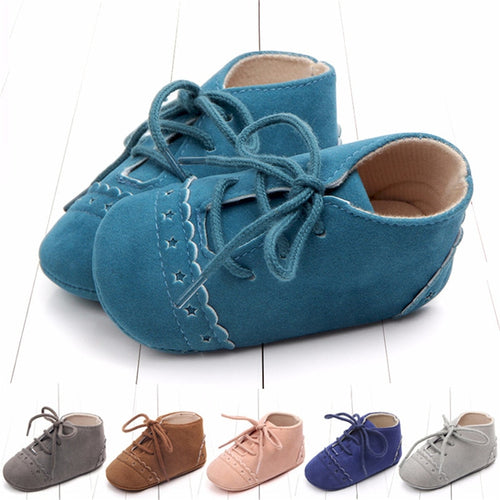 Cross-Tied Baby Shoes