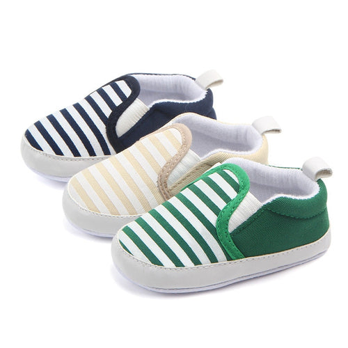 Striped Non-Slip Baby Shoes