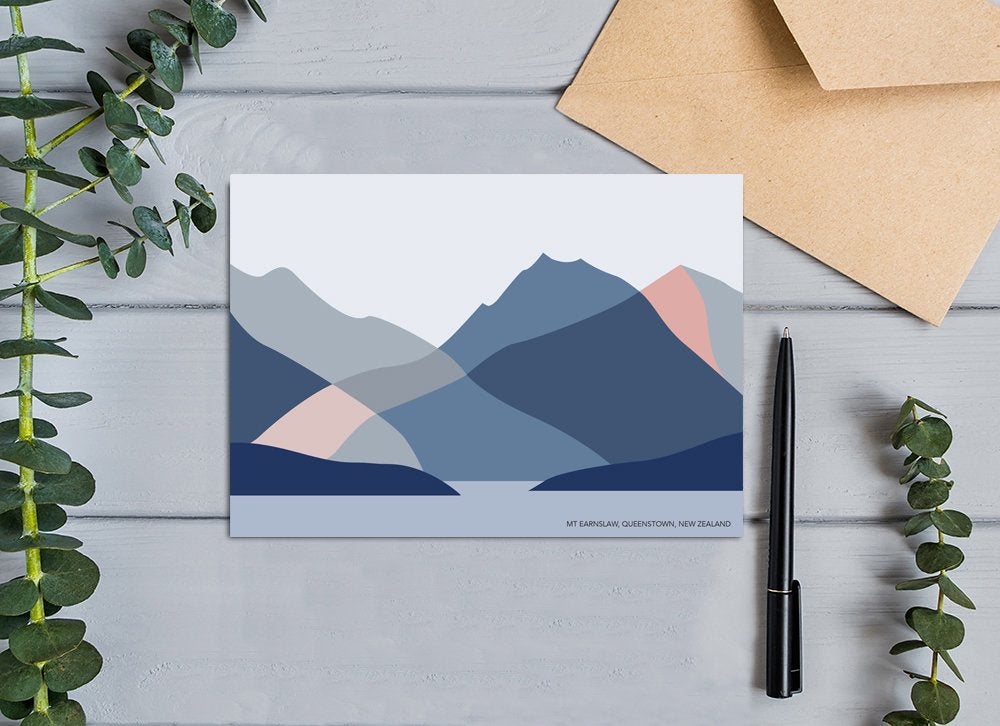 Mt Earnslaw, Lake Wakatipu, Queenstown, New Zealand Greeting Card