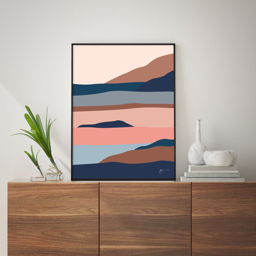 simple modern landscape art