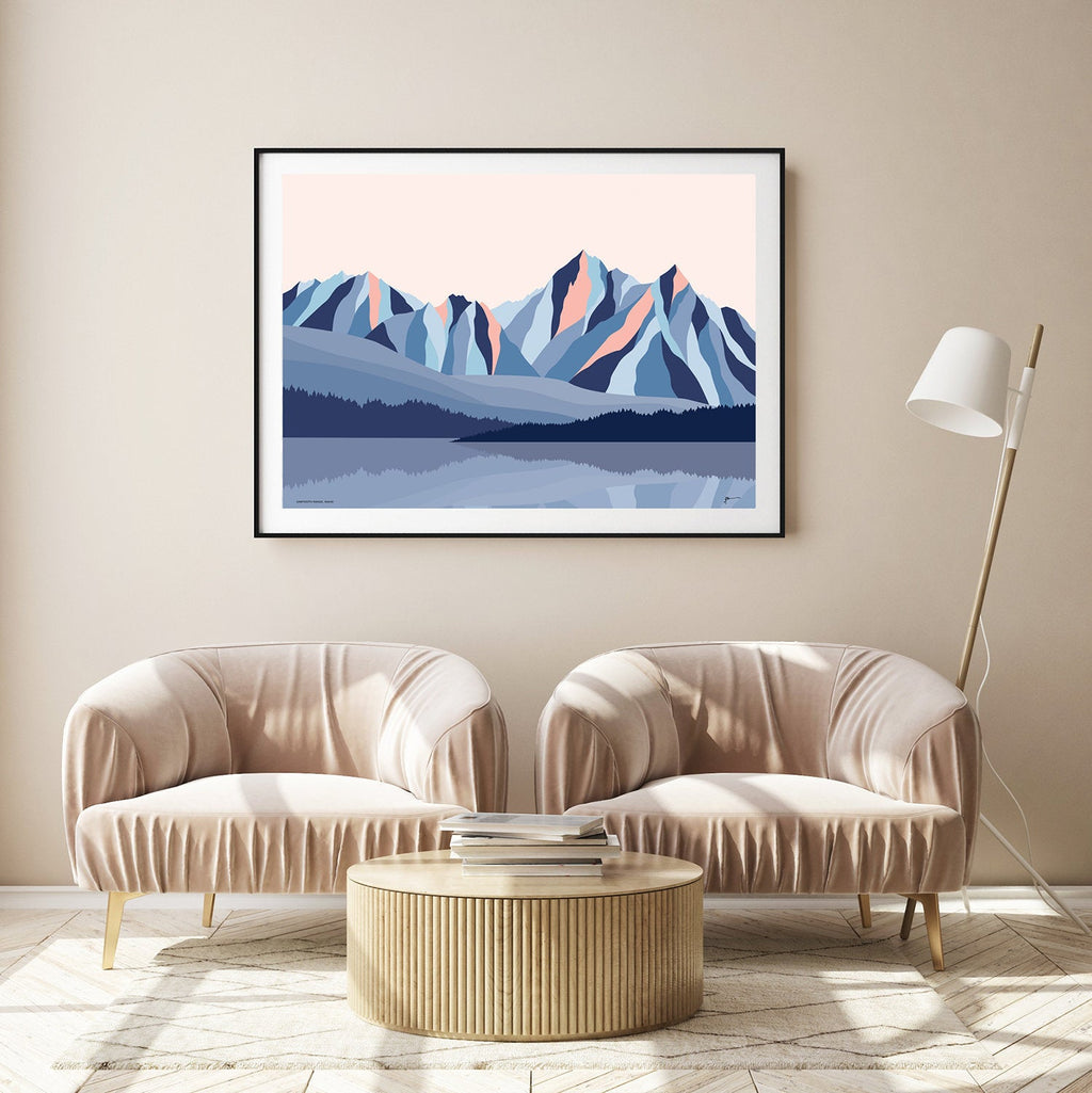 sawtooth mt art print