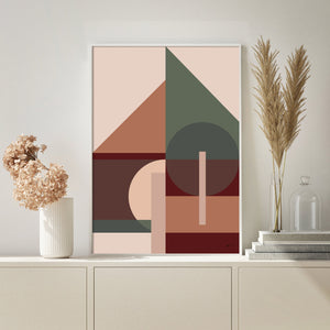 beautiful geometric modern art