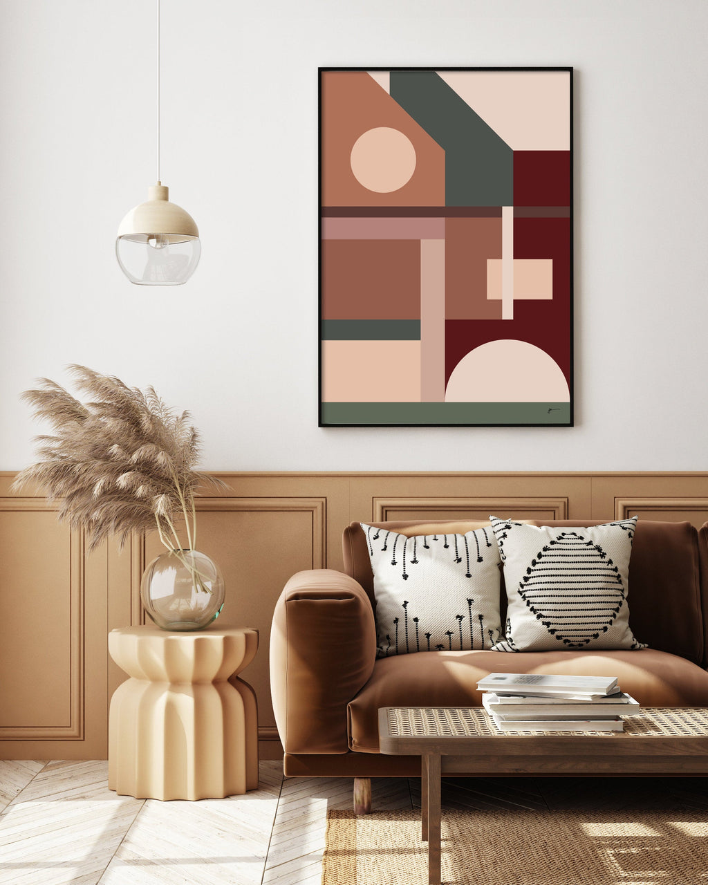 modern abstract architecture art print