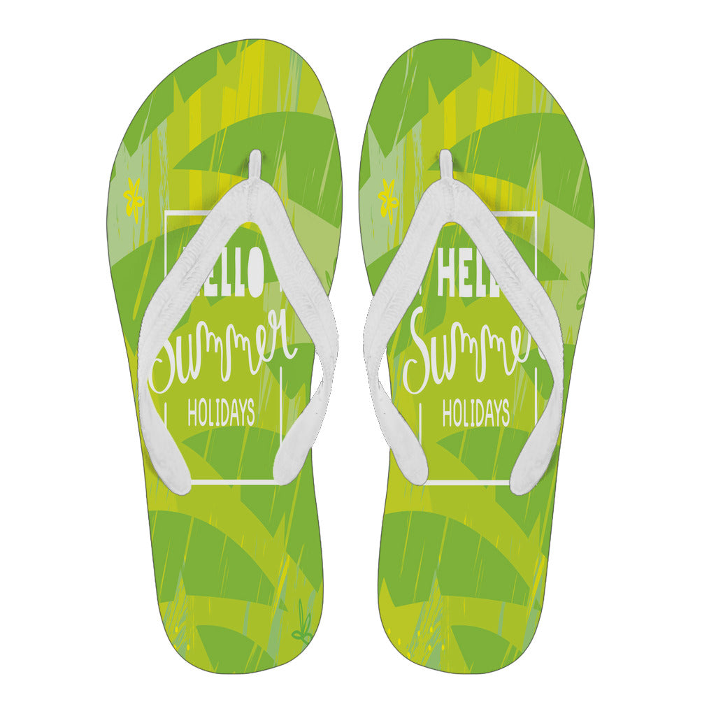 Hello Summer Holidays Flip Flops