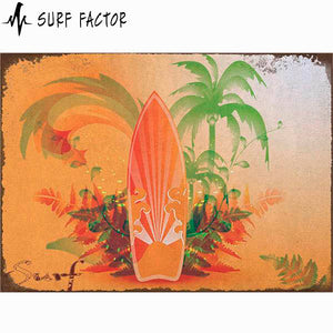 Cool Vintage Surfboard Metal Sign