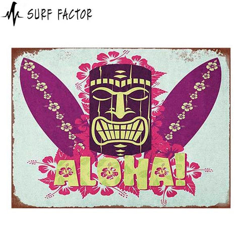 Aloha Vintage Metal Sign