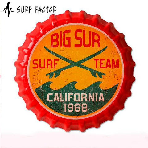 Surf Team Vintage Metal Signs