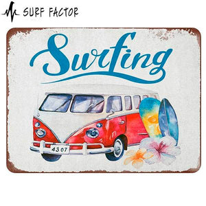 Cool Vintage Van Metal Sign