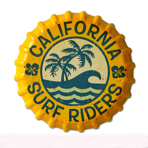 California Surf Riders Metal Sign