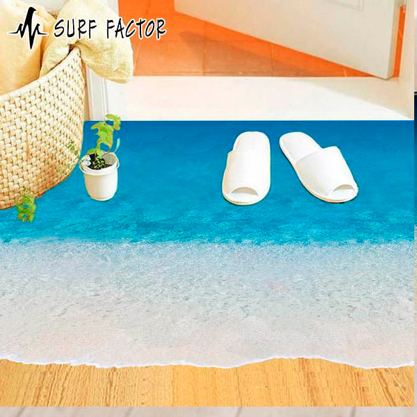 3D Walking On The Beach Sticker