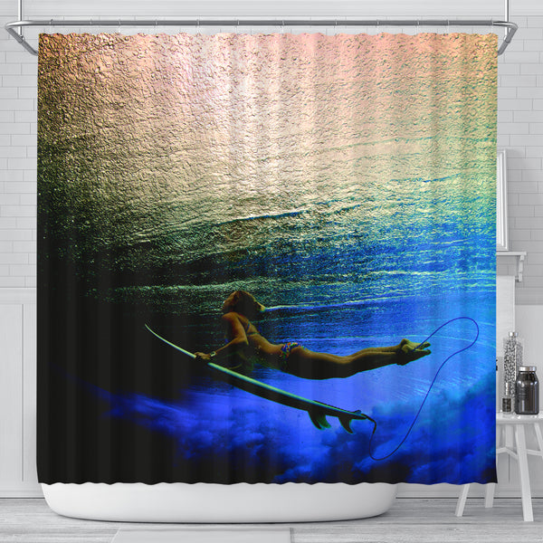 Oneness With The Ocean Shower Curtain