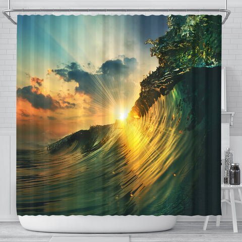 Under The Falling Sun Shower Curtain