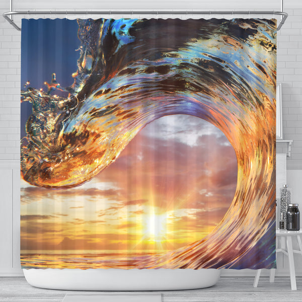 Ocean Power Shower Curtain