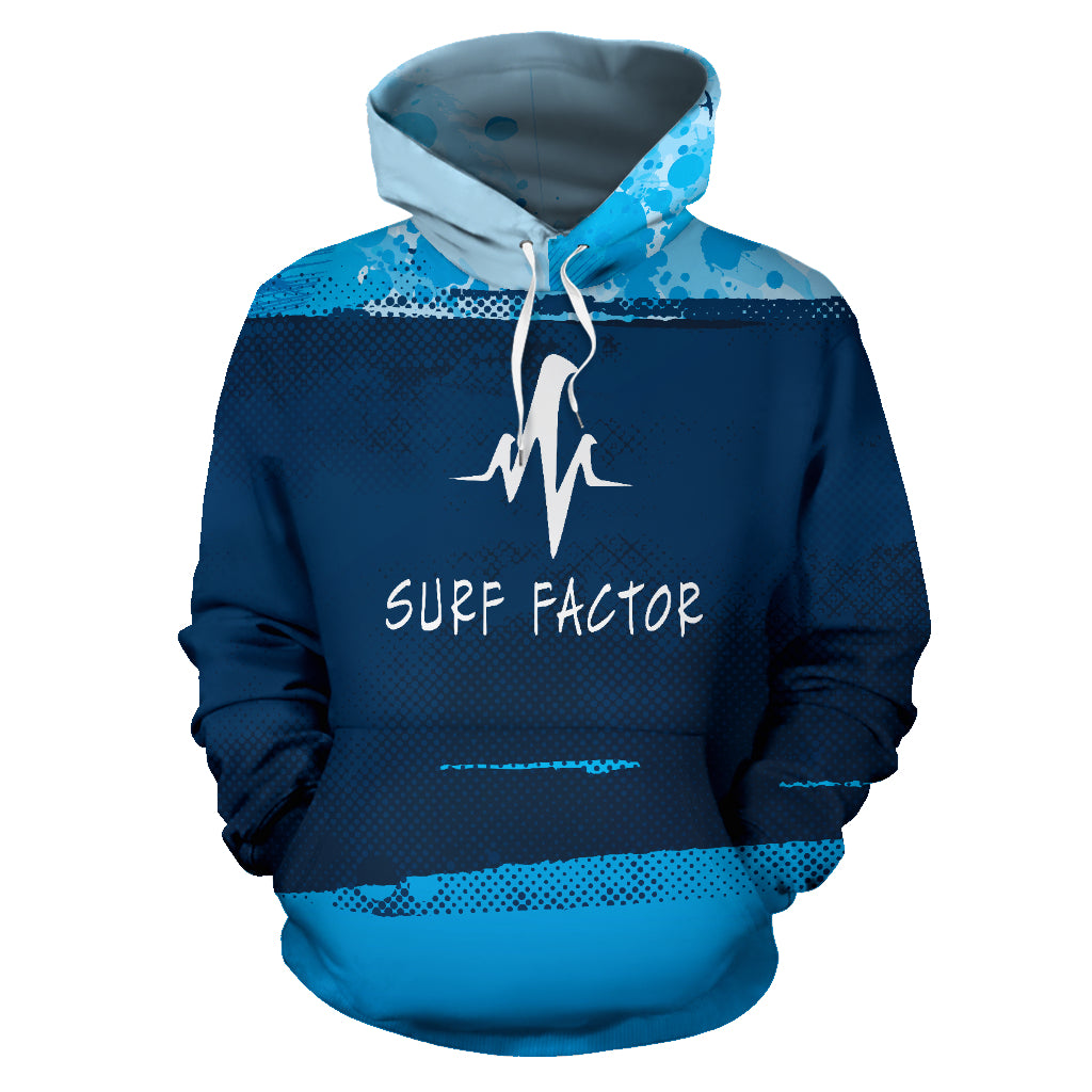 Surf factor blue abstract background