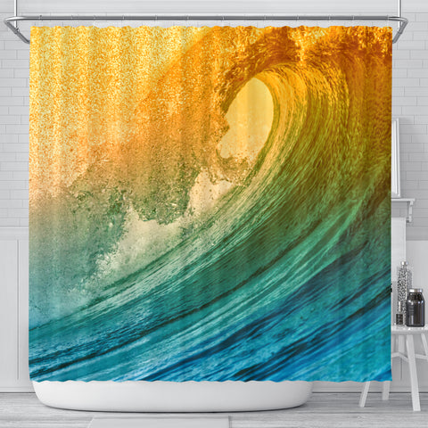 Wave Of Fire Shower Curtain