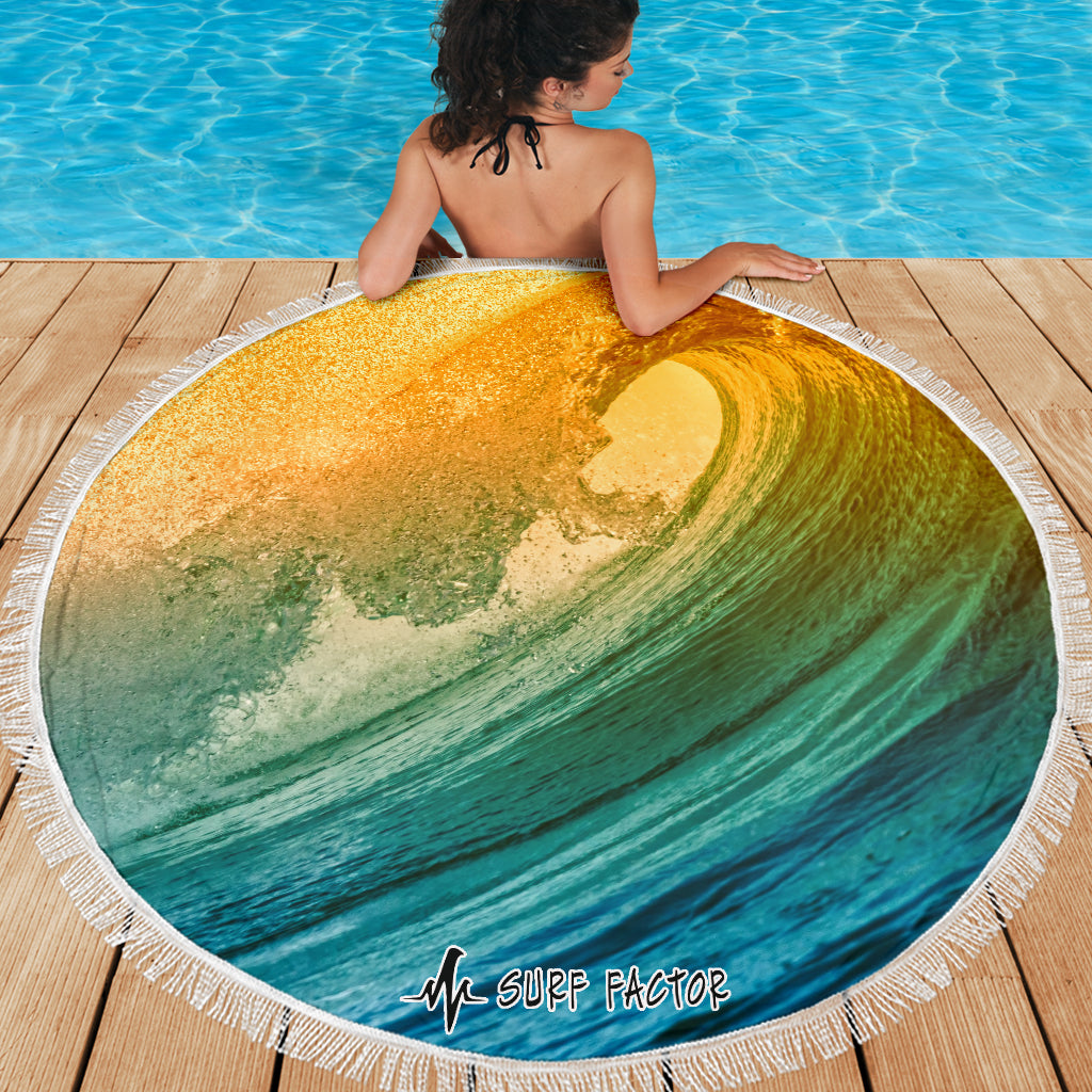 Wave Of Fire Beach Towel