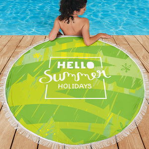 Hello Summer Holidays Beach Towel