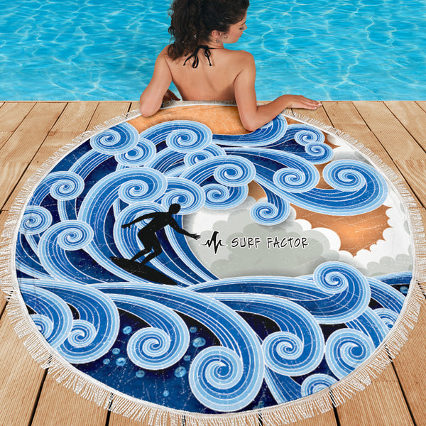 Catching The Waves Beach Towel