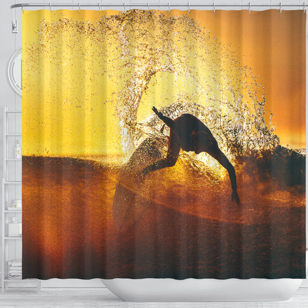 Surf In The Sun Shower Curtain
