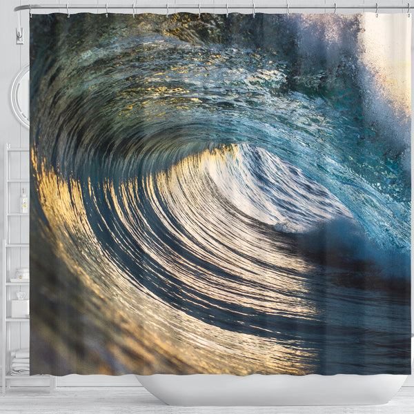 Crystal Sunset Shower Curtain