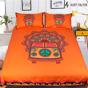 Happy Hippie Van Bedding Set