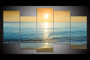Sunset on the Beach Set of 5