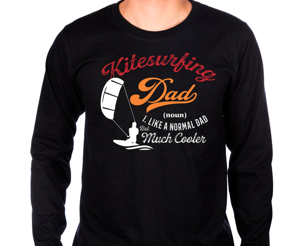 Kite Surfing Dad Long Sleeve Tee