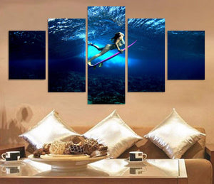 That Special Moment Surfer Girl Canvas Set