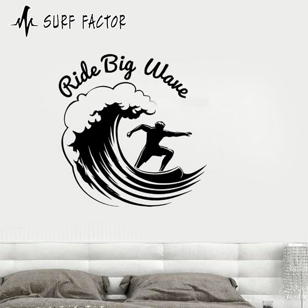 Ride Big Waves Sticker