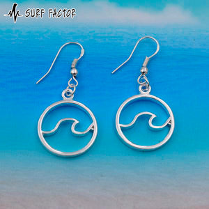 Wave Force Silver Earrings