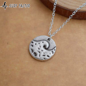 Ocean Wave Antique Pendant