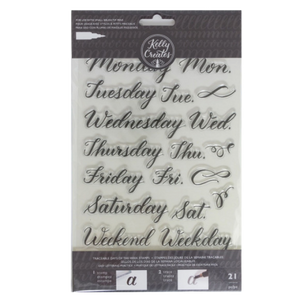 Kelly Creates stamps traceable days week x21