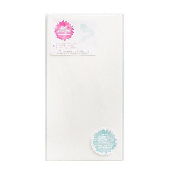 Jane Davenport Butterfly Effect Watercolor Paper Inserts 4pz