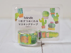 Bande Cactus Roll Sticker washi tape