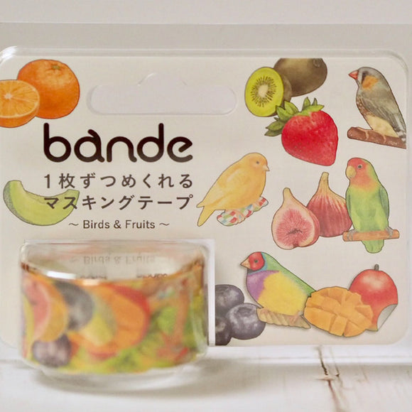 Bande Birds & Fruits Roll Sticker  Washi tape