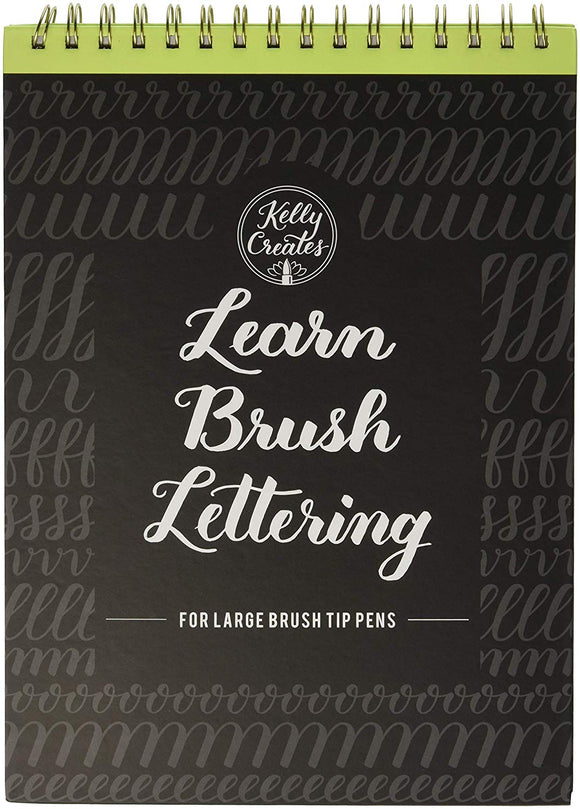 Book: Learn Brush Lettering Large brush tip pens - Kelly Creates