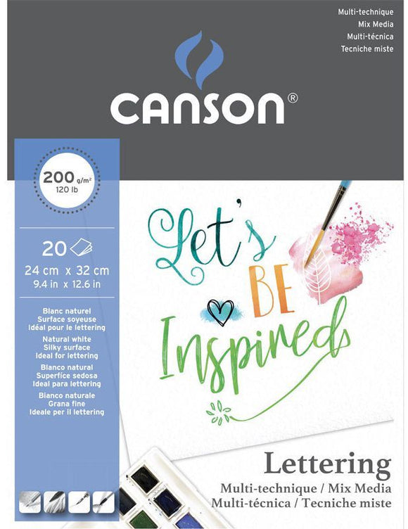 Album  Canson®Lettering  Mix media 200g/m² da 20 fogli