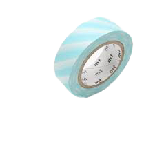 MT Washi tape Strioe mint blue
