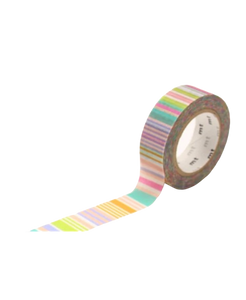MT Washi tape Multi Border Pastel