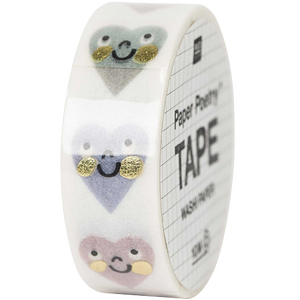 Washi tape Rico Paper Poetry Tape  cuori