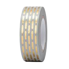 Washi tape Rico Paper Poetry Tape dorate