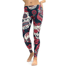 Load image into Gallery viewer, Women Workout Clothes Fitness Woman Leggings Elasticity  Floral Sportlegging Trousers Winter Pants Sporting Sportswear